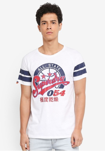 Superdry white 054 Major League Tee 7ECB1AA4559B51GS_1