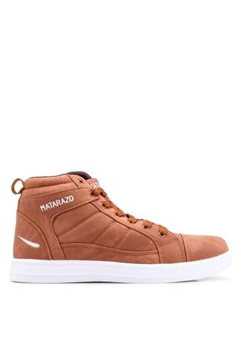 Rocklander brown Matarazo Hi-Top Sneakers C4423SHA98CEFCGS_1