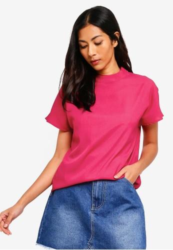 ZALORA BASICS pink Basic High Neck Top 32982AA8F93E00GS_1