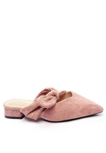 Twenty Eight Shoes 優質絨面蝴蝶結尖頭拖鞋903-9 4936DSH38004D4GS_1