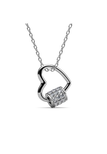 Her Jewellery silver Behold Love Pendant - Kalung Crystal Swarovski by Her Jewellery 8DC77ACF7BE500GS_1