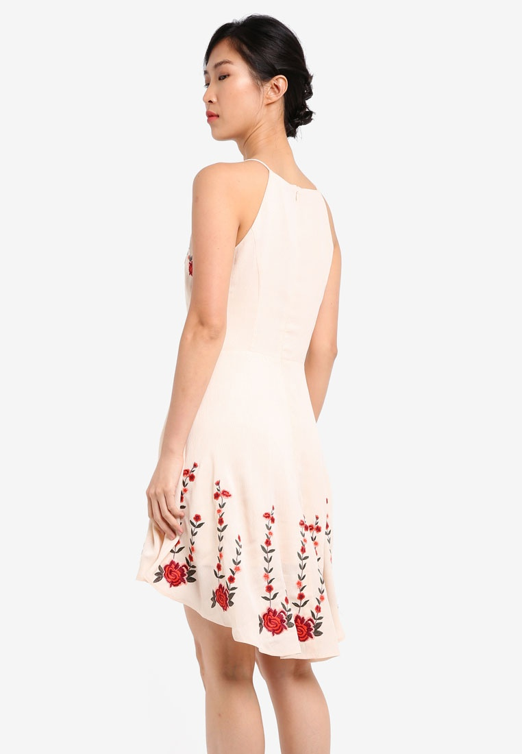 78ffc75bbf6e Flare amp  Embroidered Cream ZALORA Dress Fit REqExwpY-klausecares.com