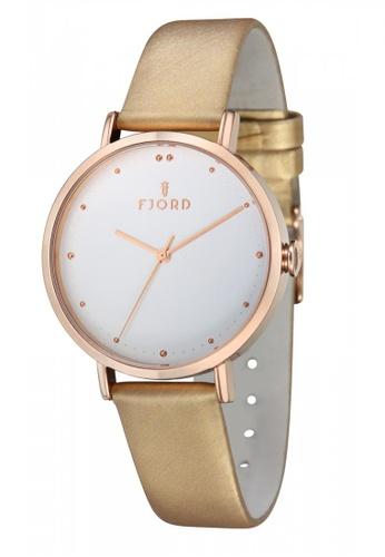 Fjord beige Fjord DOTTA FJ-6019-07 Women's Beige Genuine Leather Strap Watch 2A85AACD9BCC0FGS_1