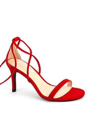 Twenty Eight Shoes 紅色 綁帶高踭涼鞋368-3 30EDDSHC08EDBBGS_1