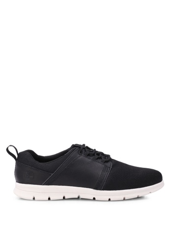 Timberland black Graydon Fabric and Leather Low Shoes TI063SH0SBA3MY_1