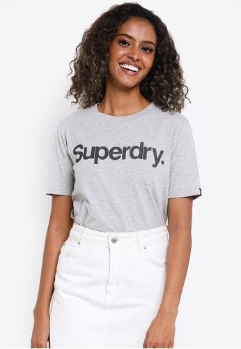 Superdry white Core Logo Tee - Original & Vintage C0B00AA35B0192GS_1
