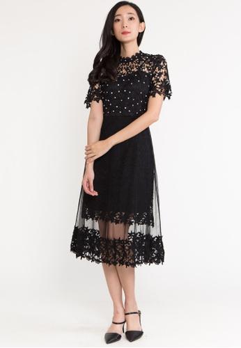 BEBEBUTTERFLY black BebeButterfly Short Sleeve Embroidered Maxi Evening Long Dinner Dress 82BA0AA8AF10FDGS_1