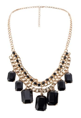 Marquis 壓克力珠寶垂墜項鍊, 飾品配件,zalora taiwan 時尚購物網 飾品配件