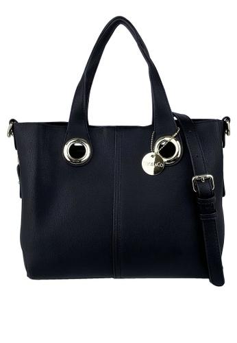 Mel&Co black Top Handle Satchel Bag FDDBEACE456B4BGS_1