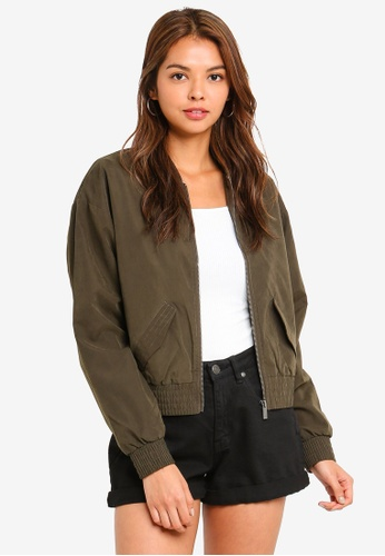 Cotton On green Riley Shirred Bomber Jacket 31759AA3293AD1GS_1