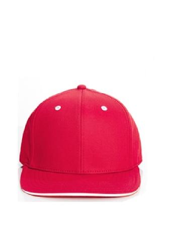 Flawless Flashbacks. FF紅色傳統中性潮流棒球帽子 E54D6AC5C0B7A2GS_1