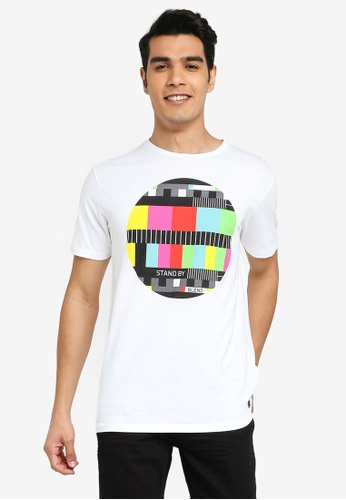 BLEND white Stand By T-Shirt 3824EAAC5A48CFGS_1