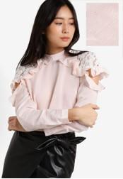 Miss Selfridge pink Pink Peekaboo Poplin Blouse MI665AA94WOZMY_1