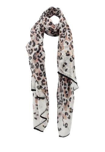 c1759022cd Buy Dorothy Perkins Beige Leopard Foil Scarf Online on ZALORA Singapore