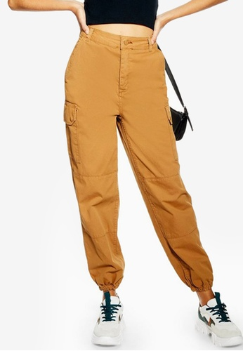 9346a164afe184 Buy TOPSHOP Stone Cuffed Utility Cargo Trousers Online on ZALORA Singapore