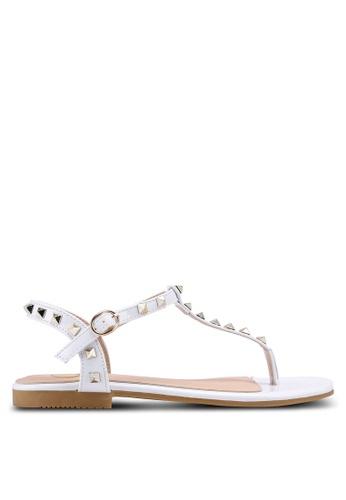 Carlton London white Toe Post Sandals 123E4SH71B3C2CGS_1
