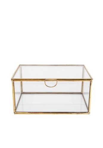 Stylodeco Vintage Jewellery Box in Brass, Rectangular, L EF6E6HL3438905GS_1