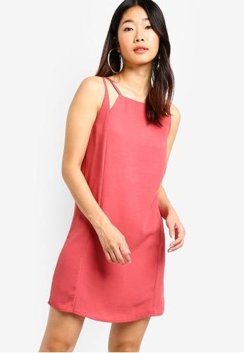 Something Borrowed pink Cut In Shift Dress 58788AA43F12E7GS_1