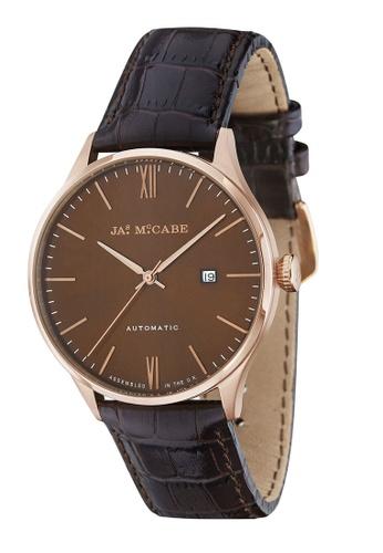 James McCabe brown James Mccabe LONDON SLIM JM-1025-03 Men's Brown Genuine Leather Strap Watch 518DAAC365FB14GS_1