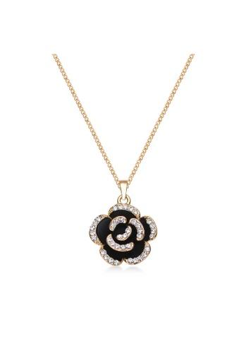 Mestige 銀色 Golden Fleur Necklace with Swarovski® Crystals 64121ACB17E3CFGS_1