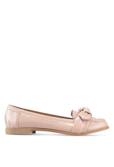 15bcc8dd8f1 Dorothy Perkins pink Nude Pu  Leah  Bow Loafers 758EFSH7BB9166GS 1