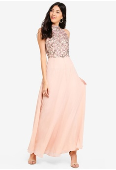 25dde903c1 54% OFF Angeleye Pink High Neck Embellished Maxi Dress S  226.90 NOW S   103.90 Sizes M XL