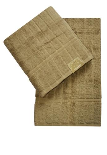 Cotton Fields brown Cotton Fields Bath Towel Stripes 342A5HLD5A0D0FGS_1