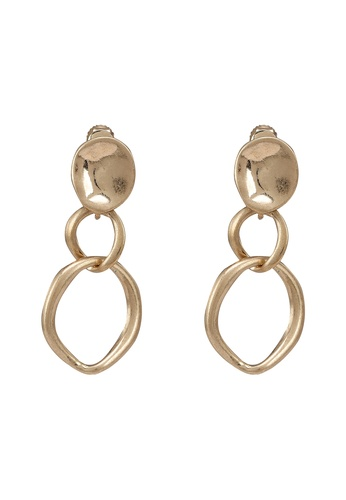 GLOBAL WORK gold Gold Plated Link Earrings 147CAACAF9DC3AGS_1