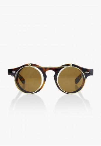 b23f1120a Buy Pomelo Round Frame Sunglasses - Brown | ZALORA HK