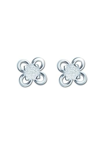SC Tom Silver silver Flower Stud Earring SC872AC36VPNPH_1