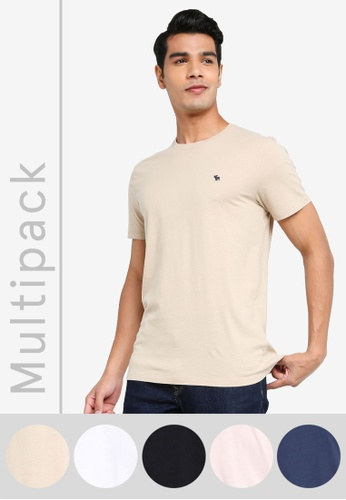 ABERCROMBIE & FITCH multi Multipack Crew T-Shirt 4D167AA14C9282GS_1