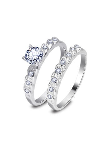 SC Tom Silver silver Double Ladies Stone Ring for Ladies-RSL278 SC872AC02JYVPH_1