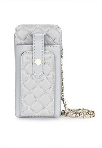 Twenty Eight Shoes grey VANSA Sheep Leather Lingge Phone Case VBW-Ps3027 83F38ACE79E2A9GS_1