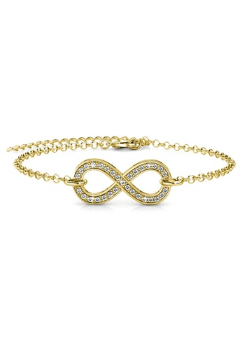 Her Jewellery gold Infinity Eight Bracelet (Yellow Gold) - Made with premium grade crystals from Austria C4D64AC1B3B2B1GS_1