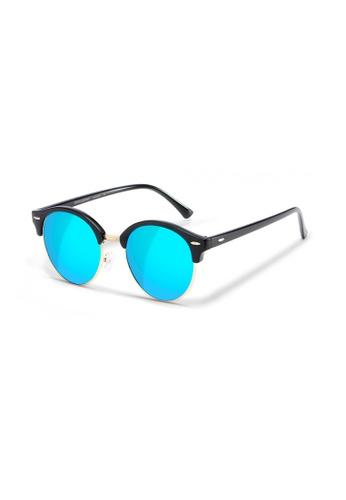 Sensolatino Eyewear black and grey and white Sensolatino Series Las Palmas With Ice Blue Polarized Lenses 99984GL92DCFA1GS_1