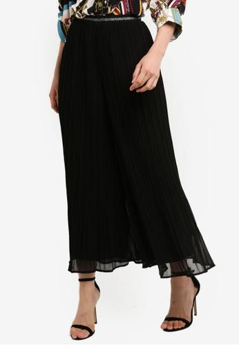 BYSI black Mesh Overlay Pleat Pants 120BFAAF7B0AF9GS_1