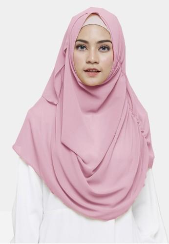 Jual Zelena Najwa Instan Hijab Dusty Pink Original Zalora