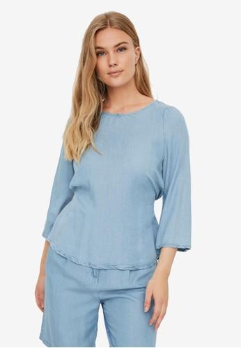 Vero Moda blue 3/4 Sleeve Top 7C359AA4072ADDGS_1