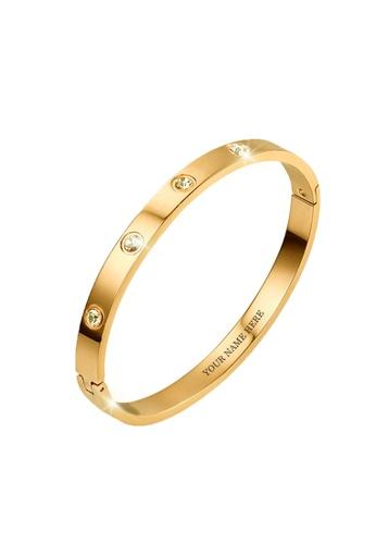 CELOVIS gold CELOVIS - Wanderlust Zirconia Bangle in Gold 4712AACDFDCA68GS_1