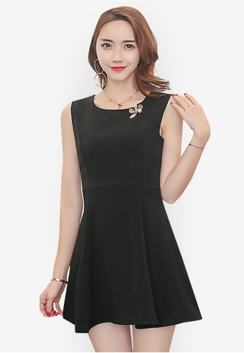 aa2bdd23eb79 Sunnydaysweety black Summer Simple Comfort Chiffon Short Dress  0D72FAAA57C083GS 1