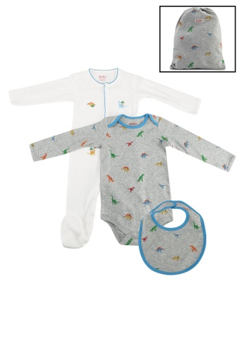 Cath Kidston grey Mini Dino 4pk Baby Starter Set 1739BKCFF763FDGS_1