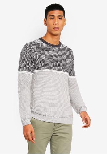 ESPRIT 灰色 長袖針織衫 F957EAA620ECB3GS_1