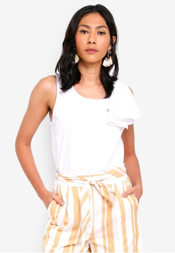 OVS white Sleeveless Top With Flounce 561DDAAE22BBCAGS_1