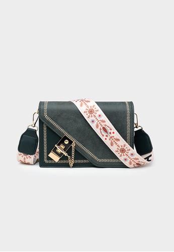 Lara green Women's Stylish Wide Strap Magnetic Closure Leather Cross-body Bag Shoulder Bag - Green 63EC7ACB664283GS_1