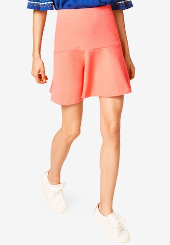 ESPRIT orange Knitted Mini Skirt 7B450AA2CAB25BGS_1