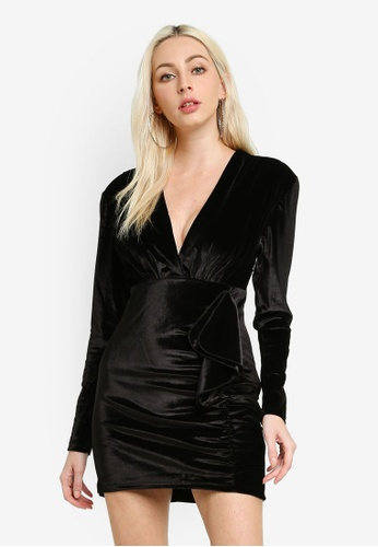 Pepe Jeans black Dua Lipa X Pepe Jeans Tracy Velvet Dress 09958AA5F247ABGS_1