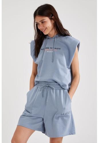 DeFacto blue Woman Athleisure Knitted Short 9B4FAAA5DEC572GS_1