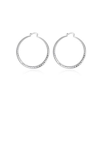 Glamorousky silver Fashion Simple Geometric Round Earrings 1F09DAC6DE478EGS_1