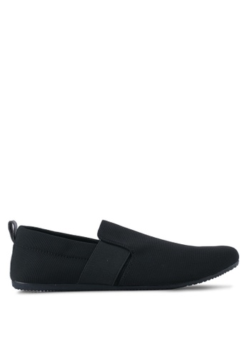UniqTee black Classic Textile Loafers UN097SH0SYS7MY_1