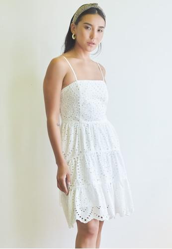 Dressing Paula white Broderie Anglaise Cotton Dress 01F7CAAE185E82GS_1